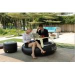 创新充气家具儿童家具趣味家具休闲家具圈圈桌QQ桌